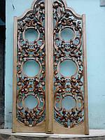 Царские Врата ручной работы из натурального дерева