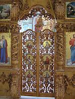 Царские Врата ручной работы,дерево,виноградная гроздь