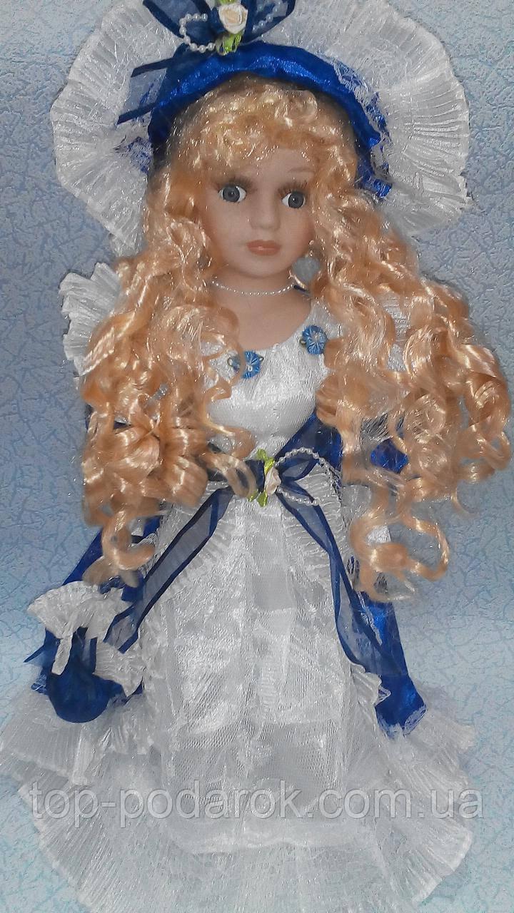 Фарфоровая кукла декоративная высота 42 см