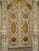 Царские врата  из дерева,с виноградной лозой, фото 1