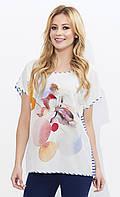 Летняя блуза со спинкой в полоску. Модель Inga Zaps, коллекция весна-лето