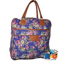 Модная сумка (36х14х36 см) для девочек из мешковины, ручка эко-кожа(мин.заказ-1 ед)