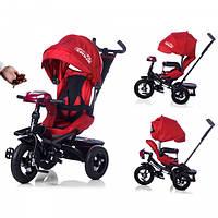 Велосипед-коляска с поворотным сиденьем, надувные колеса TILLY CAYMAN T-381 Красный