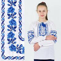 Белая хлопковая сорочка для девочки с мережкой