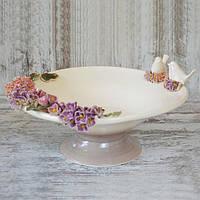 """Конфетница Grand Kerama """"Birds in flowers"""" 28 см"""