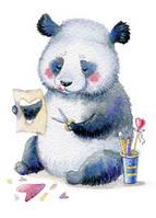 """Открытка """"Панда с сердечками"""", фото 1"""