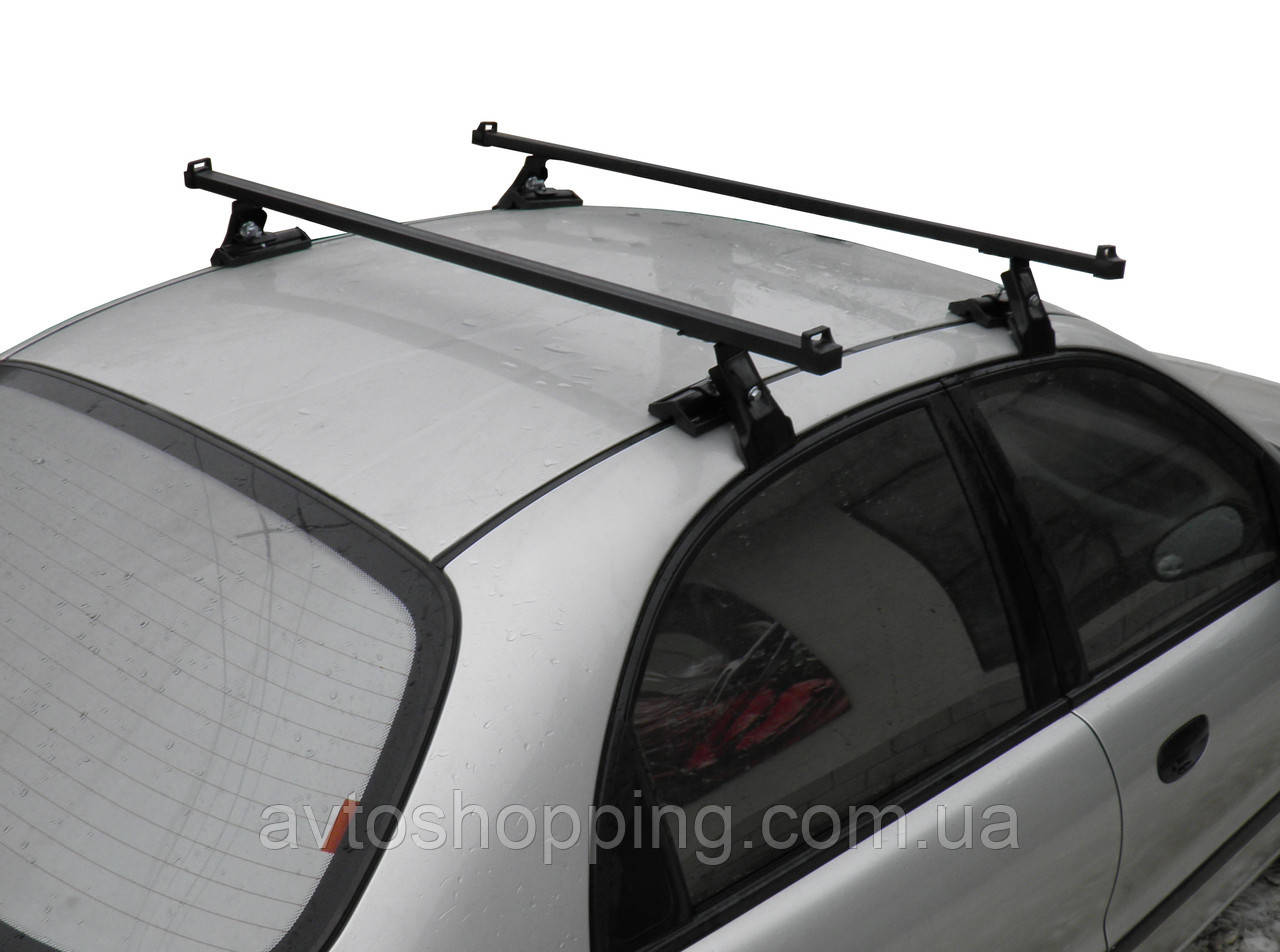 Багажник на крышу для авто с гладкой крышей Daewoo Lanos, Hyundai Accent