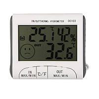 Термометр с гигрометром, метеостанция + выносной датчик DC-103