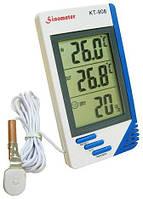 Термометр с гигрометром, метеостанция + выносной датчик KT 908