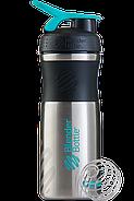 Шейкер спортивный BlenderBottle Stainless (ORIGINAL) Teal  820 ml, фото 7