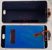 Дисплейний модуль для телефону Meizu M5C в зборі з тачскріном чорний, малий чіп сенсора, фото 1