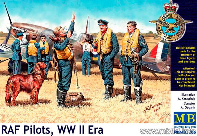RAF PILOTS WWII. 1/32 MB3206, фото 2