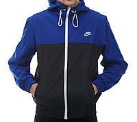 Мужская мастерка Nike синяя с черным