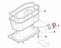 Уплотнительное кольцо пробки поддона масляного 2.3MJTD - 2.5MJTD - 3.0MJTD Ducato 1990-..., Арт. 10263450, 10263450, 10263460, FIAT