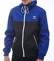 Мужская мастерка Adidas синяя с черным