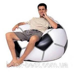 """Надувное кресло-мешок """"Футбольный мяч"""" Intex 68557 (108х110х66 см.), фото 2"""