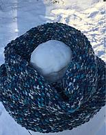 Вязаный шарф снуд труба ручная работа