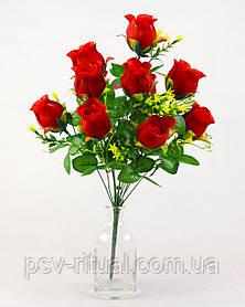 Роза круговая высокий бутон 12 голов 55 см