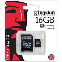 SD card (карта памяти)kingston на 16 Гб 10 класс, фото 1