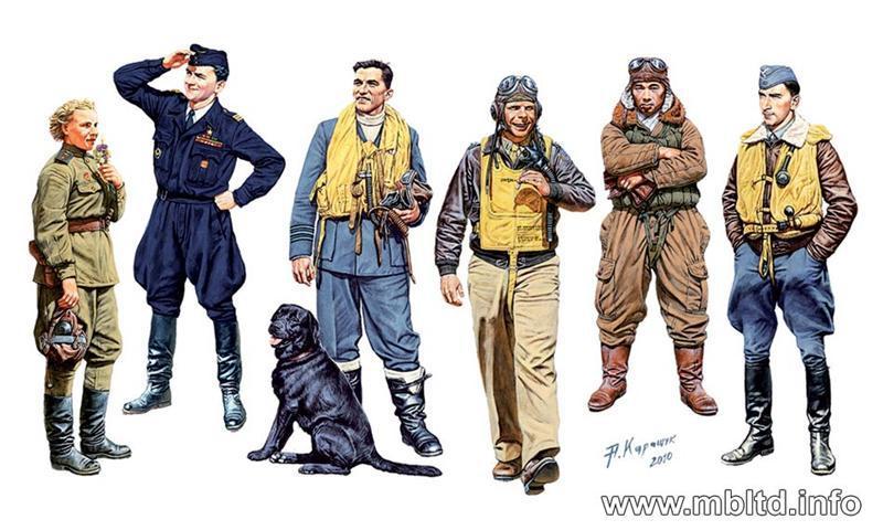 Известные пилоты Второй мировой войны, набор 1. 1/32 MASTER BOX 3201