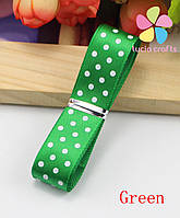 Атлас горох 1,0 см, колір зелений