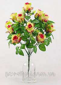 Роза бутон круговой 12 голов 52 см