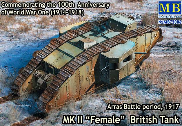 Британский танк МК II «Самка», период Битвы под Аррасом, 1917. 1/72 MASTER BOX 72006