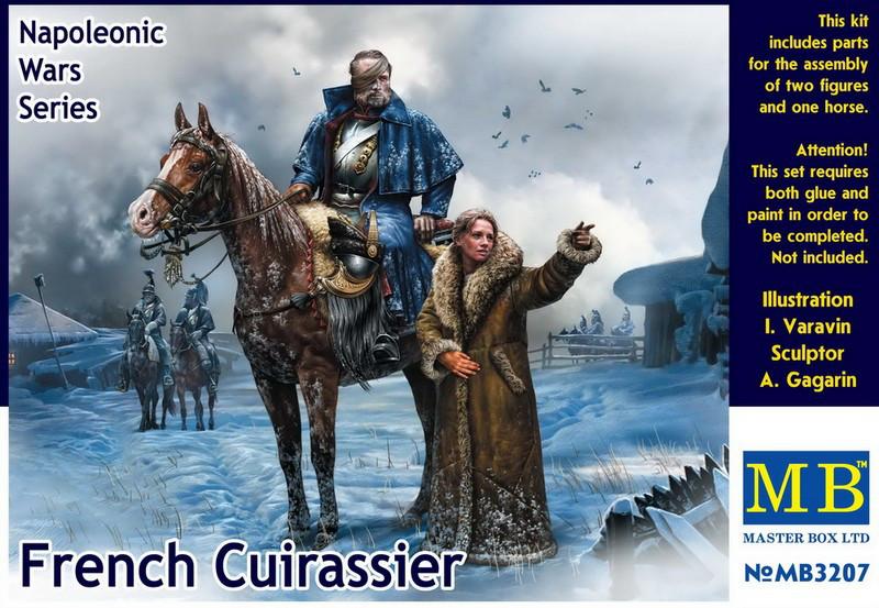 «Французский кирасир, серия Наполеоновских войн». 1/32 MASTER BOX 3207