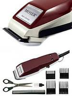 Профессиональная машинка для стрижки волос Moser 1400 в наборе (насадки+расческа+ножницы)