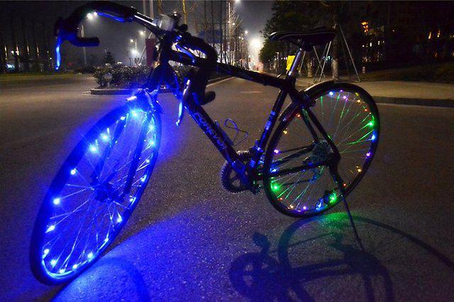 Подсветка на колесо велосипеда