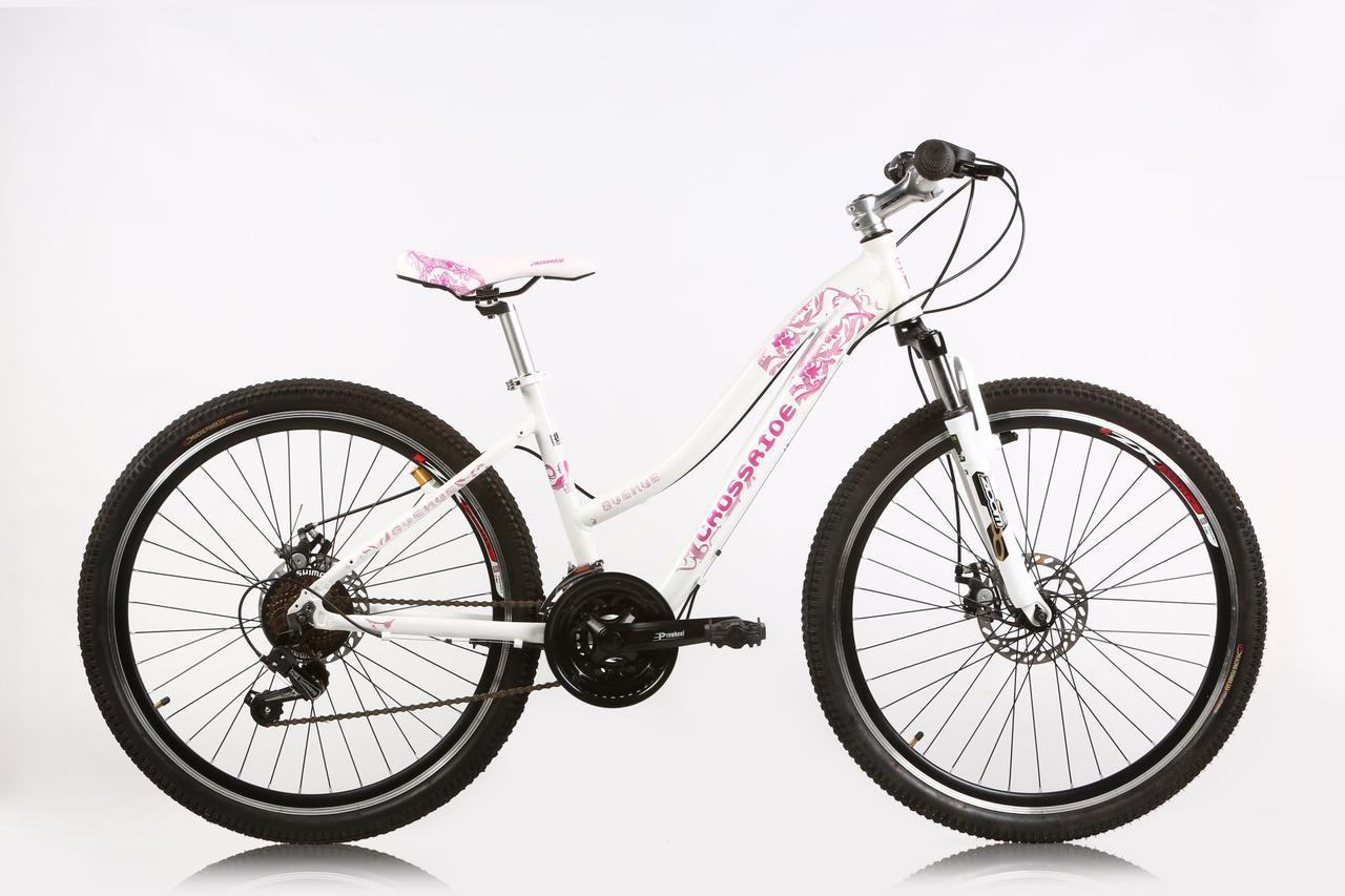 """Горный велосипед CROSSRIDE AVENUE МТВ 26"""" 17""""  Белый/Розовый"""