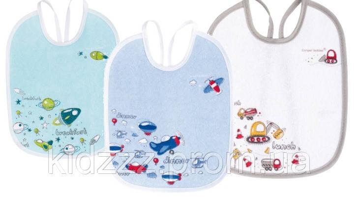 Слюнявчик детский хлопковый с подкладкой Машины 3 шт Canpol Babies (Канпол)