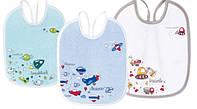 Слюнявчик детский хлопковый с подкладкой Машины 3 шт Canpol Babies (Канпол), фото 1