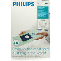 Набор мешков (4 шт) FC8023/04 S-BAG Anti-Odour для пылесоса Philips 883802304010