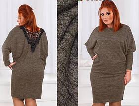 Платье с кружевной спинкой из ангоры люрекс, фото 2