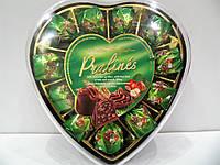 Шоколадные конфеты Pralines с ореховым кремом и злаками, 165г.