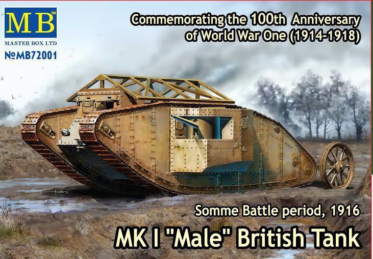 """Британский танк Mk I """"Male"""" 1/72 MB72001"""