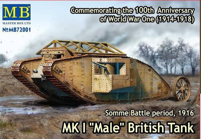 "Британский танк Mk I ""Male"" 1/72 MASTER BOX 72001, фото 2"
