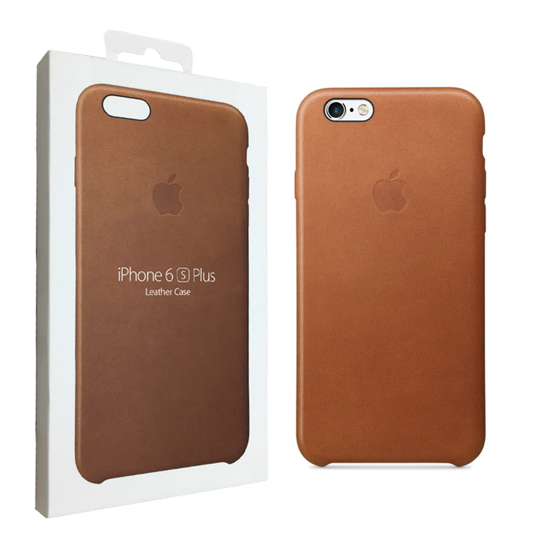 Чехол Apple для iPhone 6/6s Plus Leather Case Brown (MKXС2ZM/A)