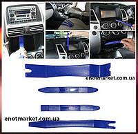 Набор инструментов съемники лопатки для снятия обшивки салона, панелей авто, магнитол, удаления клипс (4 шт.)