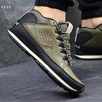 Качественные мужские кроссовки New Balance 754, нью бэланс. Оливковые. 4111