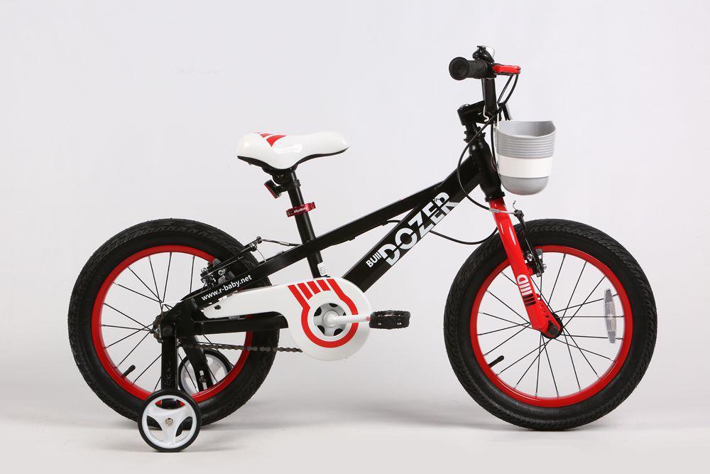 """Детский велосипед ROYAL BABY BULLDOZER 18""""  Черный/Белый"""