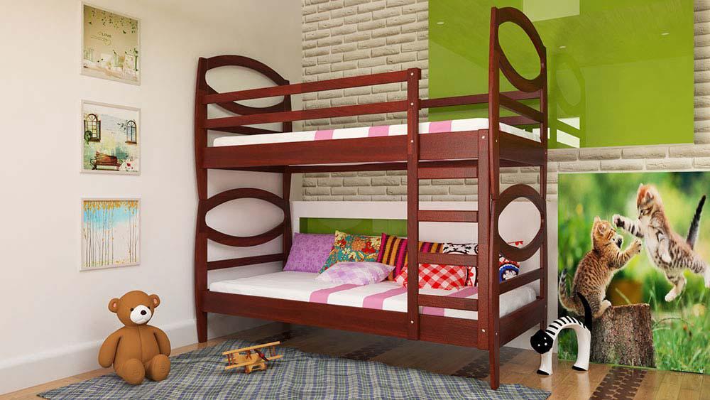 Кровать двухъярусная Наутилус 190*80 ольха ЧДК - АРТИ мебель в Мелитополе