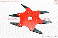 Нож сегментный 6Т для мотокосы, бензотриммера