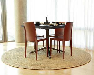 Ковер декоративный Вирджиния джутовый, круг диаметр 84 см