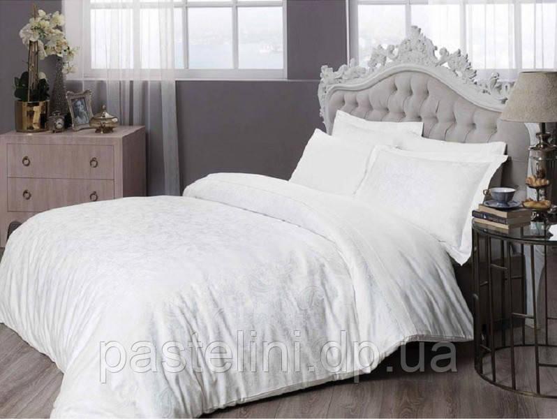 TAC жаккардовый комплект постельного белья Brinley white