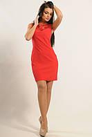 Облегающее платье футляр, костюмная ткань, кружево, 42-52 размеры