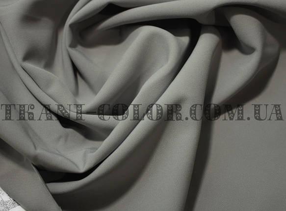 Костюмная ткань креп барби серая оптом, фото 2