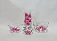 Художественная роспись по стеклу ( вазы, бокалы, пиалы )