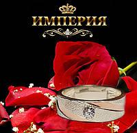 Обручальное кольцо Американка из серебра с золотом 0105